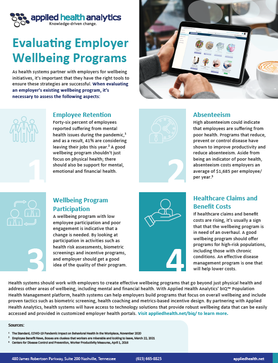 Evaluating Employer Wellbeing Programs